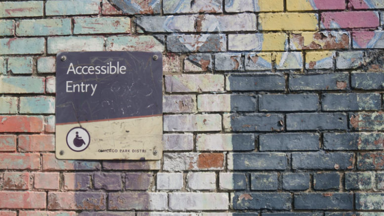 accessibility sign on the wall
